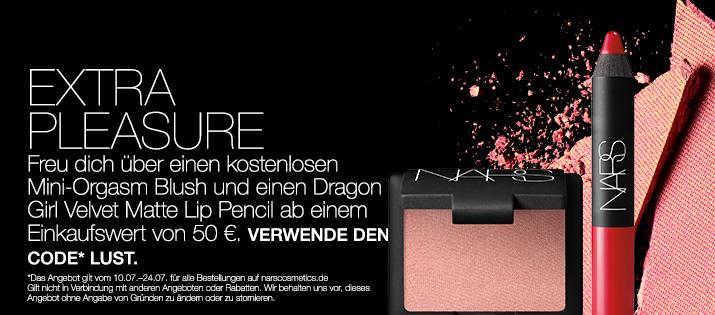 EXTRA PLEASURE Freu dich über einen kostenlosen Mini-Orgasm Blush und einen Dragon Girl Velvet Matte Lip Pencil ab einem Einkaufswert von 50  €. VERWENDE DEN CODE LUST.